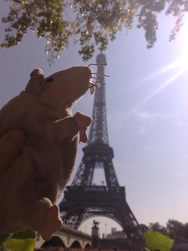 Ike climbs the Eiffel