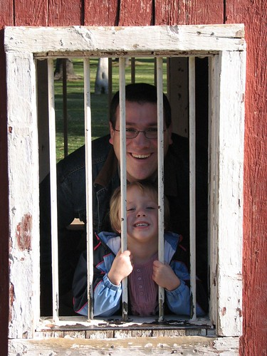 Emily and Daddy thrown in the Clink