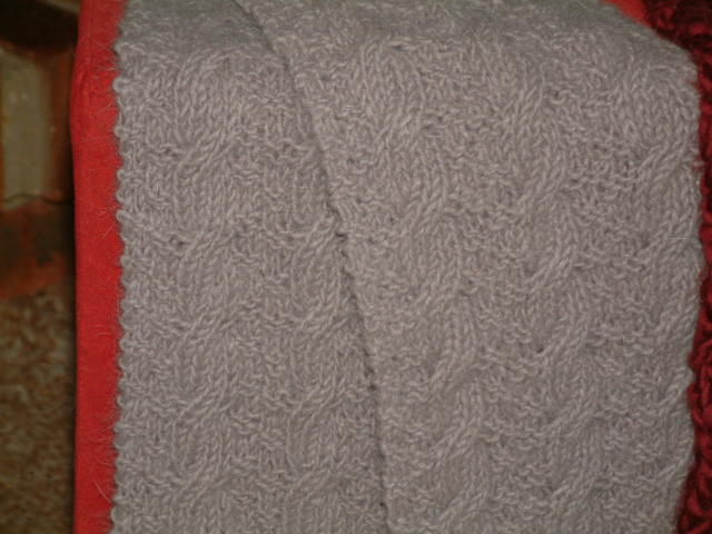Reversible Cable Scarf Wenswoolgathering