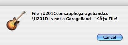 GarageBand - error message