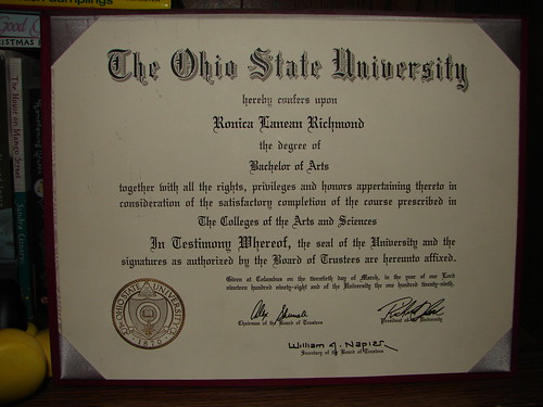 My Degree!