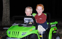 Jake & Joey having the best time riding in their new truck!