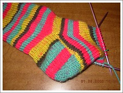 wip knitted sock