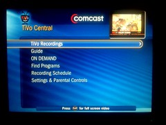 TiVo Central on Comcast DVR