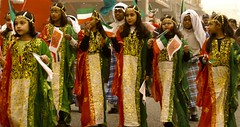 Girls during Kuwait National day