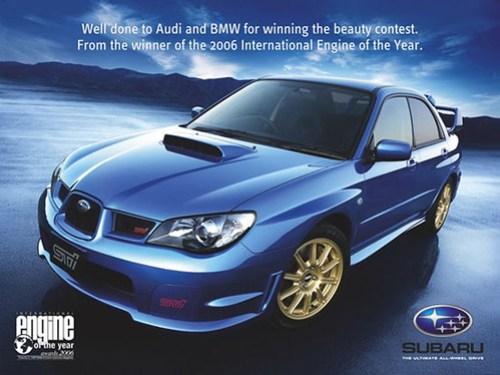 Contestación Subaru a BMW y Audi