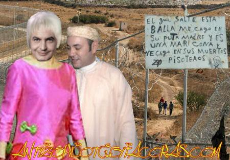 zETApé y el rey moromi visitando Ceutaheight=