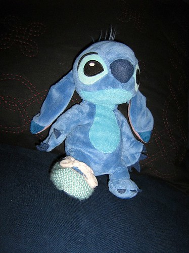 Stitch modelling the bootee