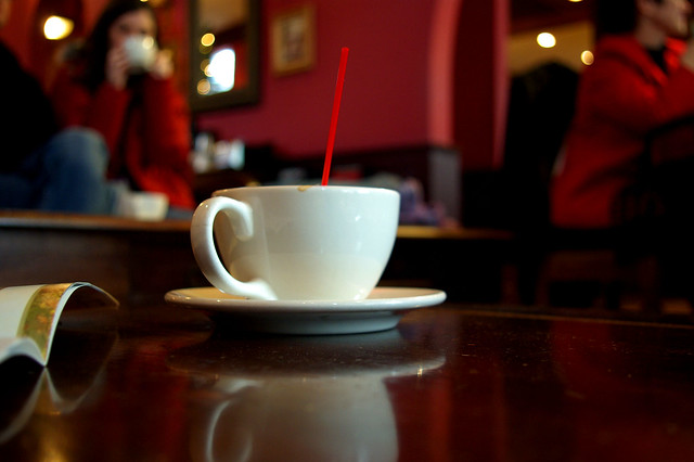 Dirty coffee cup