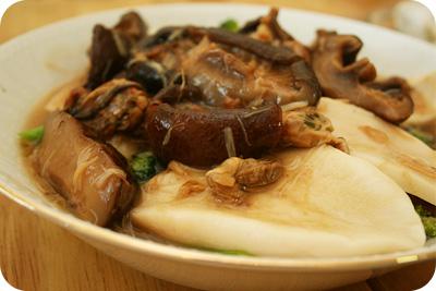 Lunch - abalone & mushroom