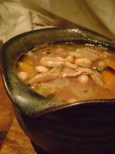 Leftover Chicken and Bean Soup