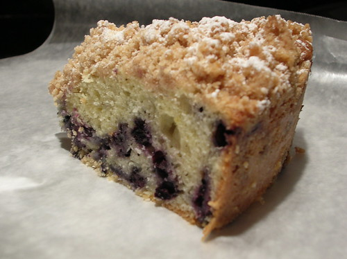 Slice of Blueberry Crumb Cake