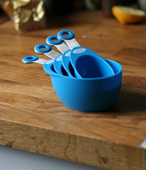 Blue measuring cups