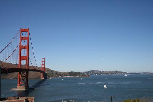 Golden Gate Bridge & Sailboat