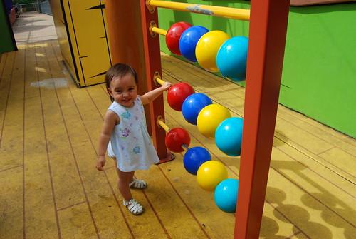Riley having fun at Dreamworld