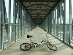 Walkway over Motorway to Busway