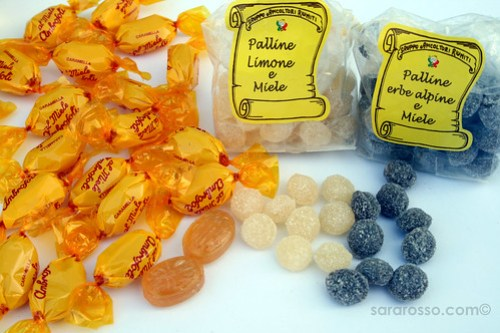Italian hard candies made with Honey