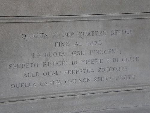 Firenze, la ruota degli innocenti