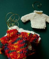 tiny sweater ornaments...
