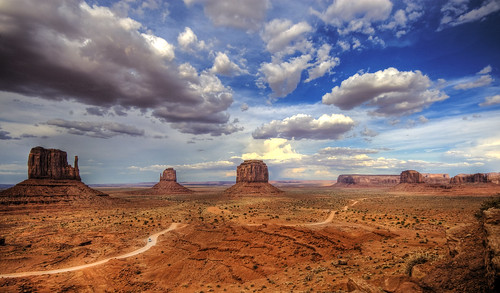 I didnt actually take any pictures on the drive home.  This picture of Monument Valley is courtesy of Wolfgang Staudt.