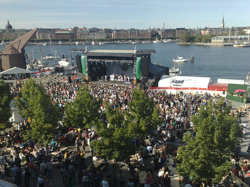 Timbuktu performing at Stockholm Jazz Festival 2009 (free entrance and view from Museum of modern art)