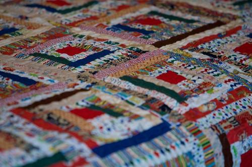 Quilt from Grandmom - Closeup