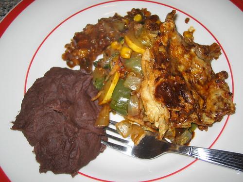 enchilada stack mole