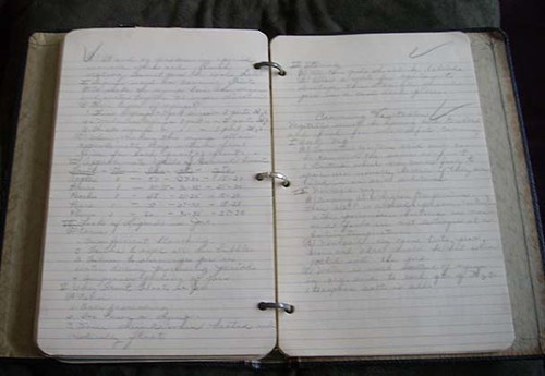 Grandma's home ec notebook