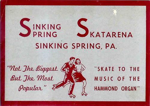 Vintage Sinking Springs, PA skate label