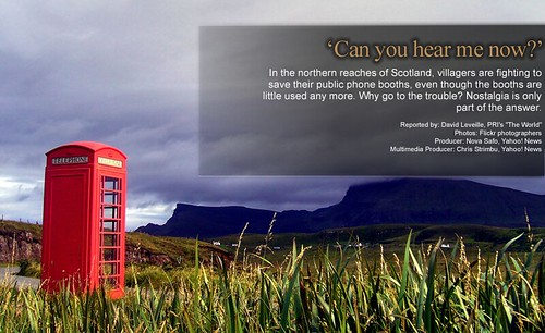See the PRI/Yahoo! News Interactive about the effort to save Scotland's telephone booths