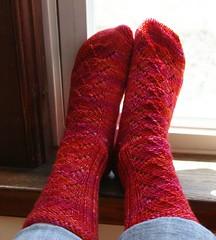 Red Dwarf socks - a bit big on my feet
