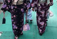 kimono and zōri; Kyōto, Japan
