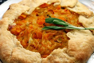 butternut squash and caramelized onion galette