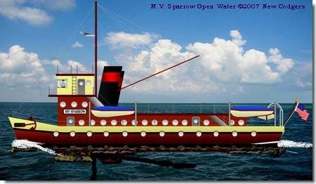 MV Sparrow Underway