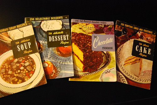 Collection of antique cookbooks