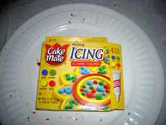 Cake Mate Cake Icing used on Cookies