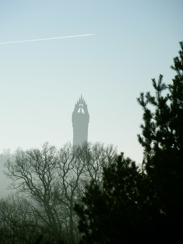Hazy Wallace Monument
