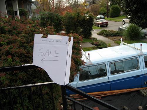 Nearly useless yard sale sign