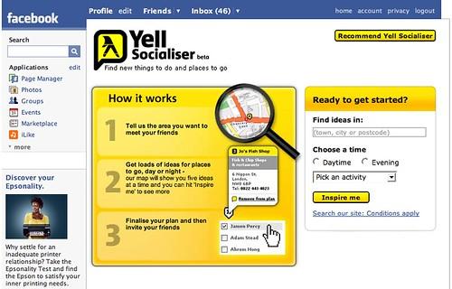 Yell facebook app 1