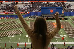 the view from the top of the Carrier Dome...
