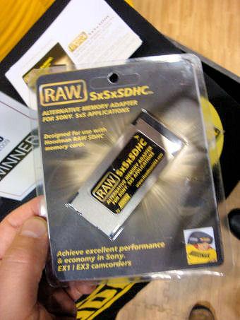Hoodman RAW SxSxSDHC Memory Adapter