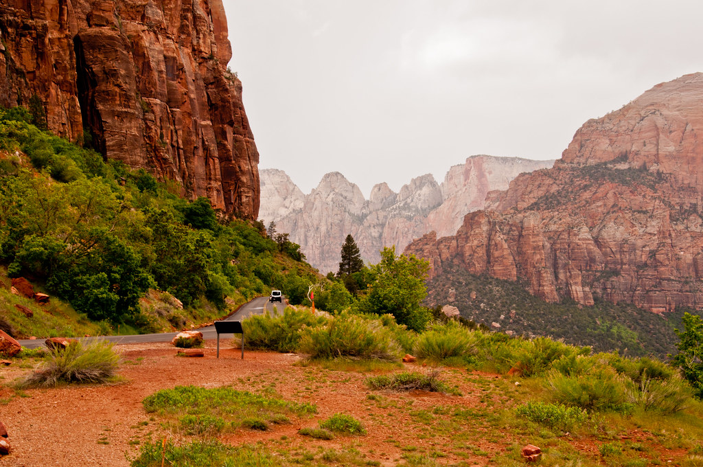 View from the road, Zion National Park