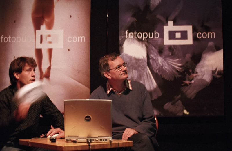 Martin Parr talk organized by Fotopub Festival photo: Bostjan Pucelj