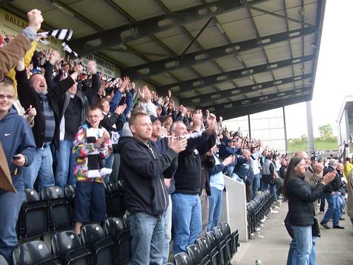 Ayr fans celebrate