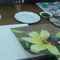 第一次畫與製作陶版畫的過程
