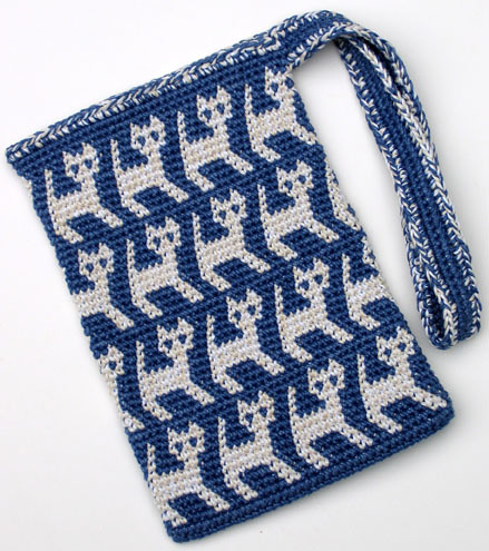 * Ooooh...  tapestry crochet!  I havent tried that yet.  Adorable!