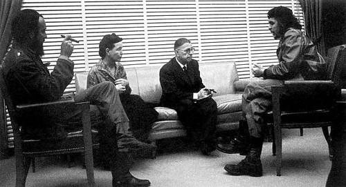 Fidel Castro, Sartre, Simone de Beauvoir e Che Guevara