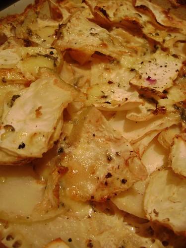 Celeriac baked with stilton
