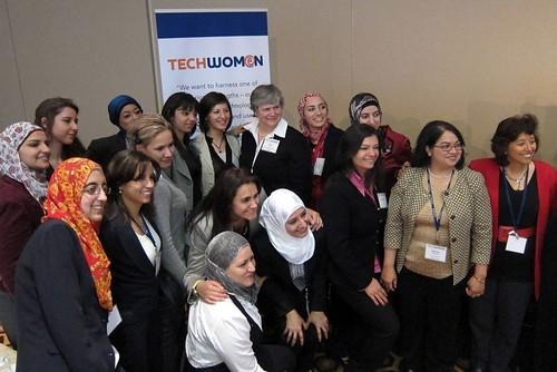 Katy Dickinson with TechWomen
