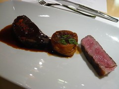 Wagyu striploin and wagyu cheek